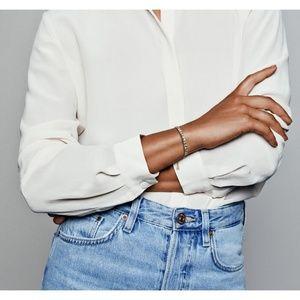 Pandora Jewelry - Gold Exotic Stones & Stripes Shine Bracelet